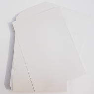25 x A3 Pearl White Card Stock, Double Sided, 250gsm Stiff Board